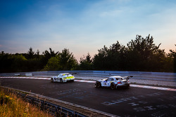 #15 HTP Motorsport Mercedes-Benz SLS AMG GT3: Harold Primat, Maximilian Götz, Kenneth Heyer, Roland Rehfeld, #25 Marc VDS Racing BMW Z4 GT3: Maxime Martin, Jörg Müller, Uwe Alzen, Marco Wittmann