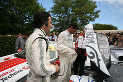 Dario Franchitti and Mark Webber