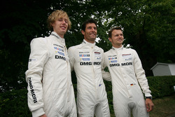 Brendon Hartley, Mark Webber and Marc Lieb