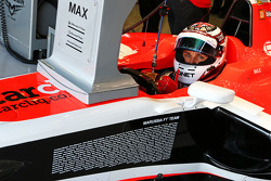 Max Chilton, Marussia F1 Team MR03 with a full list of the Marussia F1 Team personnel