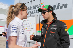 Susie Wolff, Williams Development Driver with Sergio Perez, Sahara Force India F1