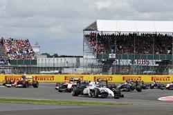 Valtteri Bottas, Williams FW36 at the start of the race