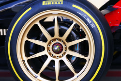 F1: The Lotus F1 E22 running new 18 inch Pirelli tyres and rims