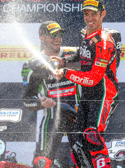 Race 1 winner Marco Melandri