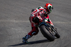 Davide Giugliano retrieving his bike