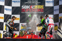 Race 2 podium celebrates