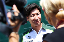 F1: Kamui Kobayashi, Caterham with the media