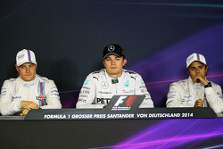 The FIA Press Conference: Valtteri Bottas, Williams; Nico Rosberg, Mercedes AMG F1; Felipe Massa, Williams