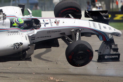 Felipe Massa, Williams F1 in a big crash