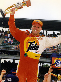 Race winner Ricky Rudd celebrates