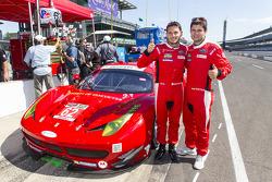 GTLM polesitters Giancarlo Fisichella and Pierre Kaffer