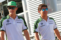 Marcus Ericsson, Caterham with team mate Kamui Kobayashi, Caterham