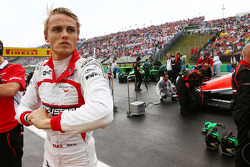 Max Chilton, Marussia F1 Team on the grid.