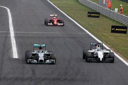 Nico Rosberg, Mercedes AMG F1 Team and Felipe Massa, Williams F1 Team