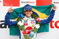 Podium: winner Pietro Fittipaldi celebrates