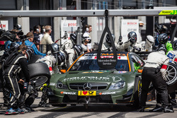 Pit stop for Robert Wickens, HWA DTM Mercedes AMG C-Coupé