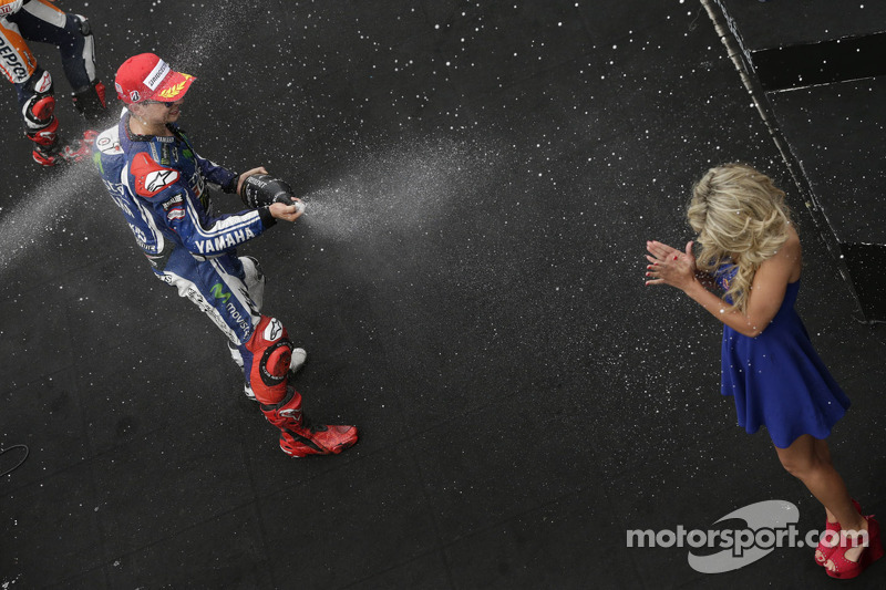 Podium: second place Jorge Lorenzo