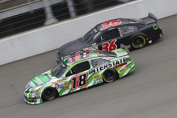 Kyle Busch, Joe Gibbs Racing Toyota and Reed Sorenson, Chevrolet
