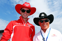 (L to R): Alexander Rossi, Marussia F1 Team Reserve Driver with Mario Andretti, Circuit of The Americas' Official Ambassador