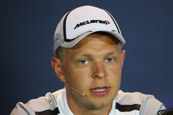 F1: Kevin Magnussen, McLaren in the FIA Press Conference