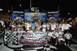 Race winner Brad Keselowski, Team Penske Ford celebrates Penske's 400th win