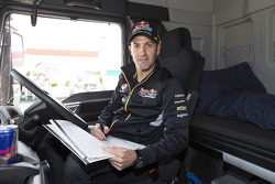 Jamie Whincup drives the Red Bull Holden hauler