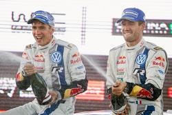 Winners Sébastien Ogier and Julien Ingrassia