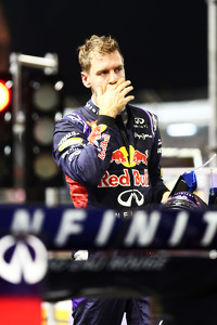 Sebastian Vettel, Red Bull Racing RB10 stops at the end of FP1