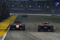 Jules Bianchi, Marussia F1 Team MR03 and Daniil Kvyat, Scuderia Toro Rosso STR9