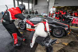 Pit stop for #1 Belgian Audi Club Team WRT Audi R8 LMS Ultra: Cesar Ramos, Laurens Vanthoor, Christopher Mies