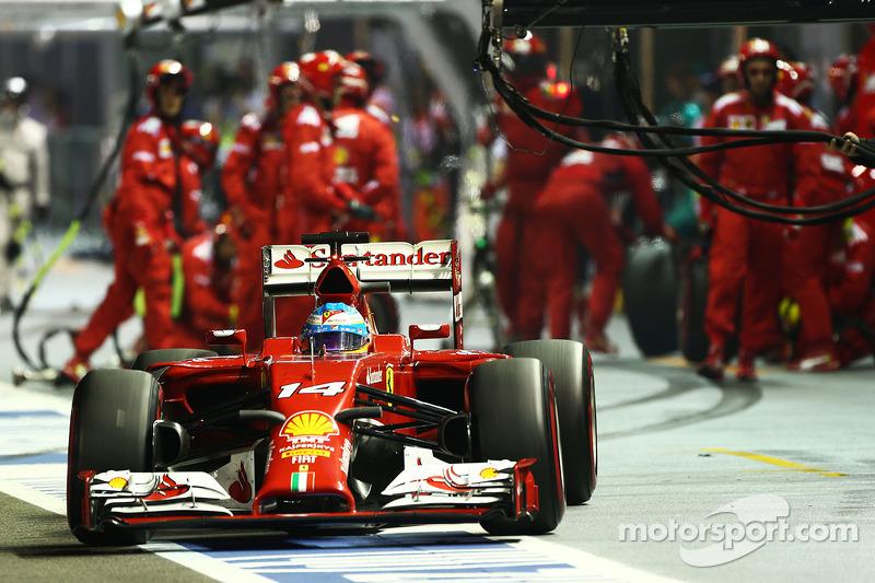 Alonso Ferrari Fire Fernando Alonso Ferrari F14-t