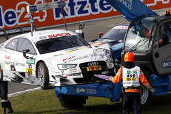 Nico Muller, Audi Sport Team Rosberg Audi RS 5 DTM, after his crash