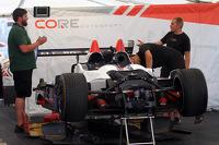 CORE autosport garage area