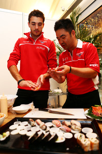 Jules Bianchi, Marussia F1 Team at the Marussia F1 Team Sushi Happy Hour