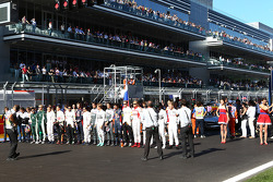 Drivers silence in respect to Jules Bianchi, Marussia F1 Team MR03