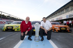 Constructors champion Audi - Dr. Wolfgang Ullrich, head of Audi Motorsport, Dieter Gass, head of Audi DTM