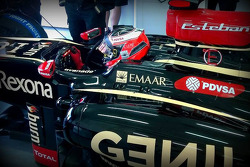 Esteban Ocon Lotus test