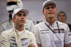 Timo Bernhard and Marc Lieb watch LMGTE qualifying