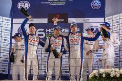 1st place Alexander Wurz, Stéphane Sarrazin, Mike Conway