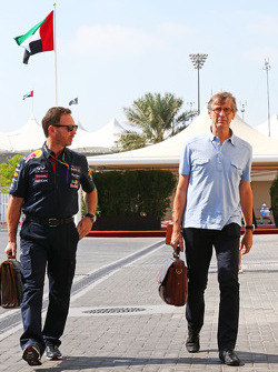 (L to R): Christian Horner, Red Bull Racing Team Principal with Mario Illien, Ilmor Engineering Co-Founder