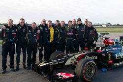 Stunt driver Martin Ivanov and the Lotus F1 Team