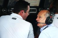 (L to R): Eric Boullier, McLaren Racing Director with Ron Dennis, McLaren Executive Chairman