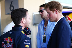 Christian Horner, Red Bull Racing Team Principal with HRH Prince Harry