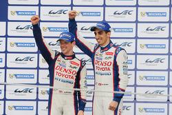 Podium: second place Anthony Davidson, Sebastien Buemi