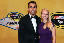 Aric Almirola and his wife Janice
