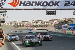 #2 Black Falcon Mercedes SLS AMG GT3: Abdulaziz Al Faisal, Hubert Haupt, Yelmer Buurman, Oliver Webb takes the checkered flag