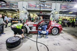 Pit stop for #30 Ram Racing Mercedes SLS AMG GT3: Cheerag Arya, Thomas Jäger, Tom Onslow-Cole, Adam Christodoulou
