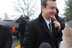 Kurt Busch arrives at the Kent County family courthouse for a hearing regarding assault charges filed by then girlfriend Patricia Driscoll