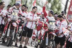 Bike category podium: Helder Rodrigues, Joan Barreda