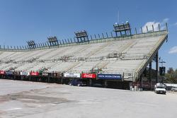 Construction work in the stadium arena